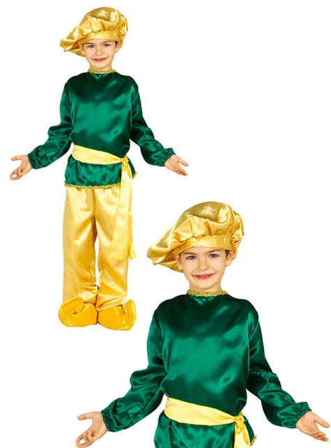 Disfraz de paje Real verde para niño - original