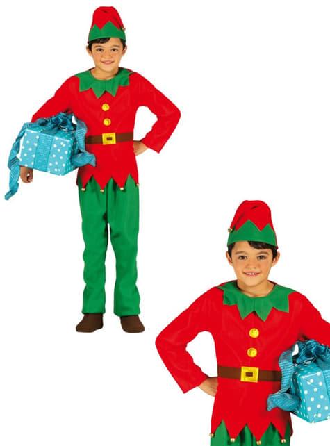 Disfraz de elfo de Navidad para niño - original