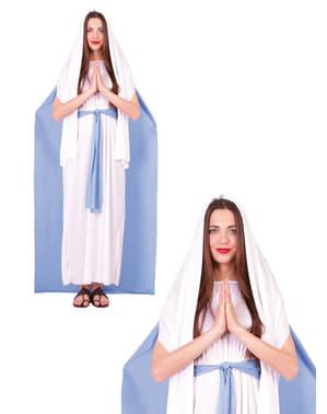 Disfraz de la virgen María clásica para mujer