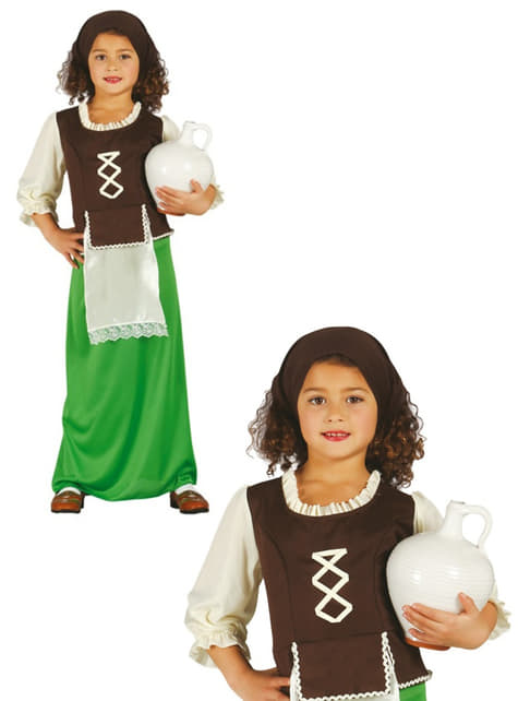Girls Green Innkeeper Costume
