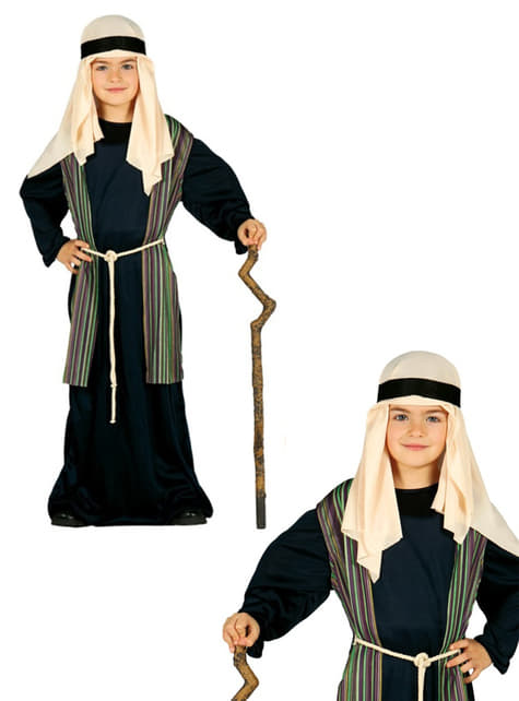 Disfraz de San José azul para niño - original
