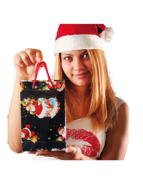 Bolsas navideñas decoradas 20x15 cm