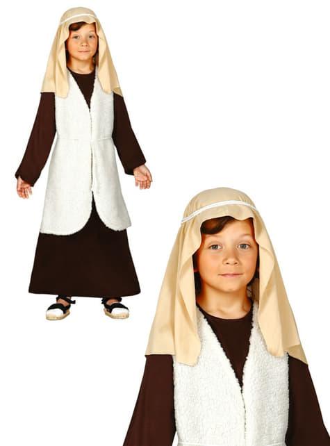 Disfraz de pastor hebreo marrón para niño - original