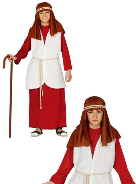 Disfraz de pastor hebreo rojo para niño - original