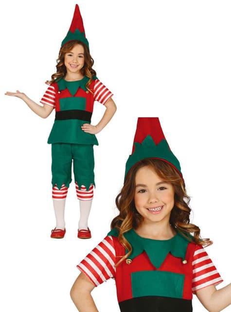 Fato de elfo divertido para menina
