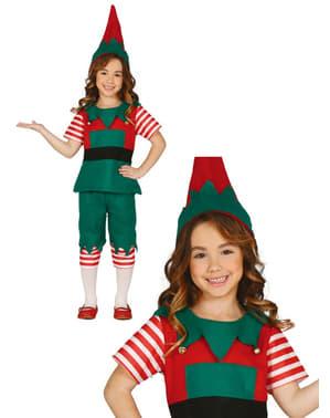 Girls Fun Elf Costume