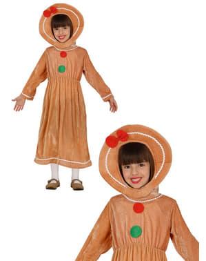 Disfraz de galleta de jengibre para niña