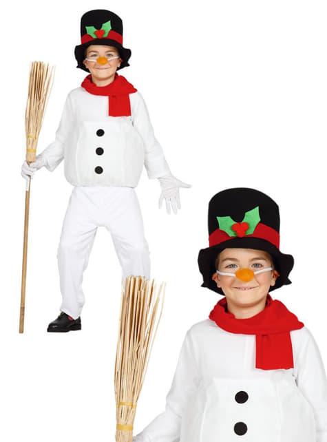 Lustiges Schneemann Kostüm für Jungen