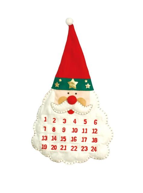 Calendrier Père Noël 53 cm
