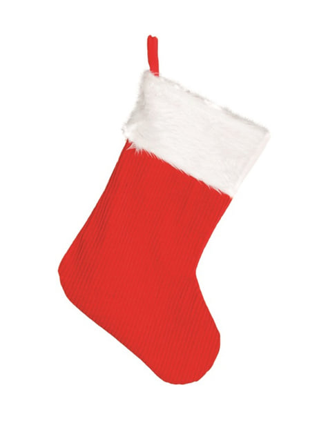 45 Cm Red Christmas Stocking For Parties And Birthdays Funidelia