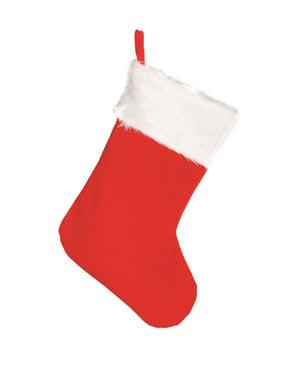 45 cm punainen joulusukka