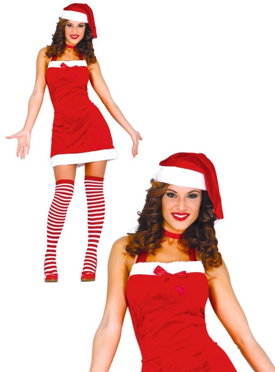 freches weihnachtsfrau kost m f r damen funidelia. Black Bedroom Furniture Sets. Home Design Ideas