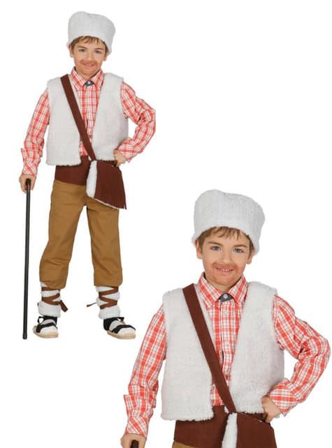 Kit disfraz de pastor del campo para niño - original