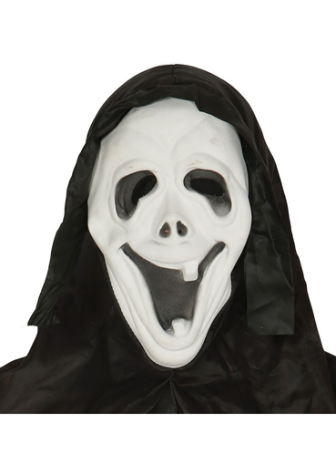 Smiling Scream mask with hood