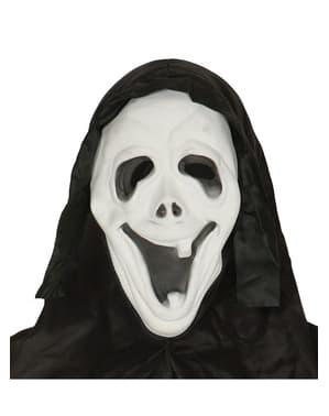 Maschera Scream sorridente con cappuccio