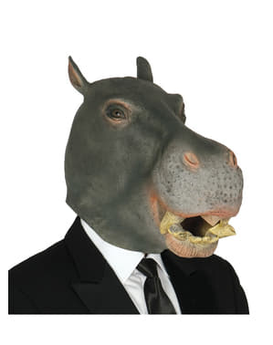 Grey hippopotamus mask