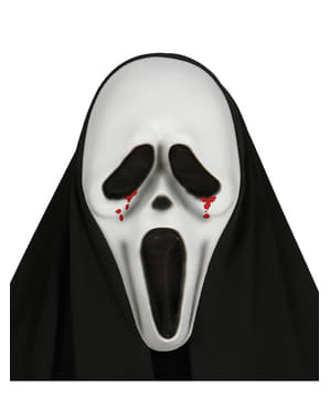 Scream blood tears mask with hood