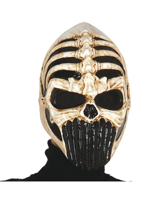 Máscara de esqueleto alien