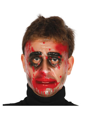 Trasparant masker bebloed gezicht voor mannen