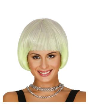 Perruque jaune courte femme