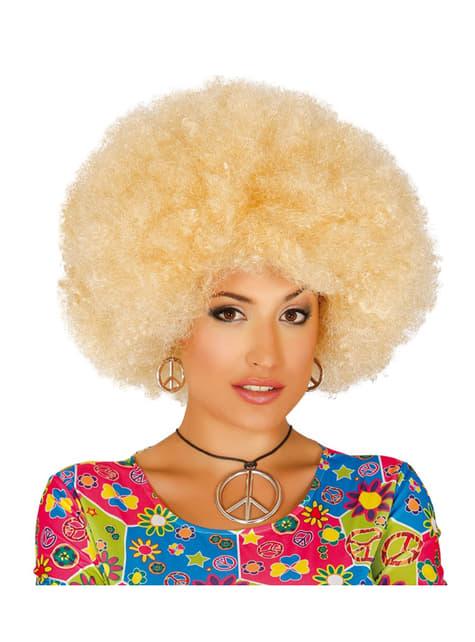 Peluca afro rubia para mujer
