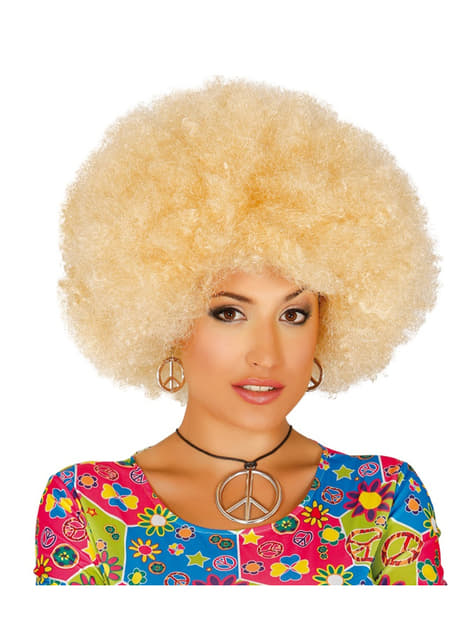 Womens blonde Afro wig