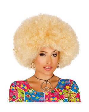 Pruik afro blond voor vrouw