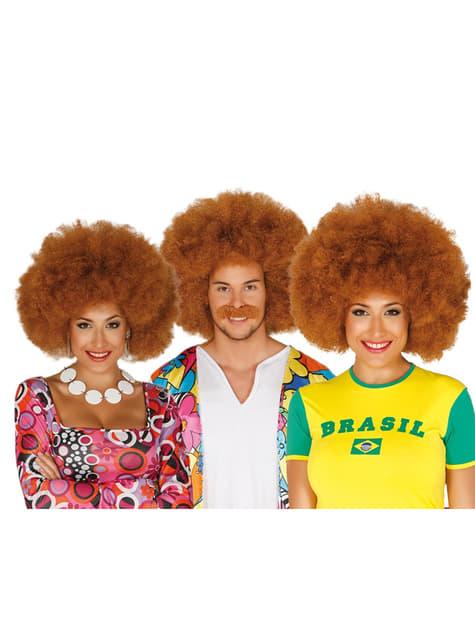 Unisex καφέ περούκα Afro