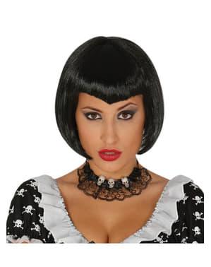 Peruca de bruxa na moda para mulher