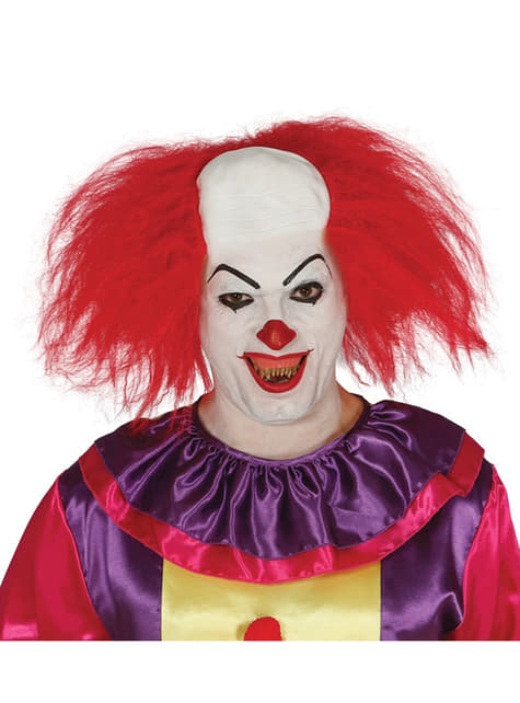 Perruque clown rouge homme
