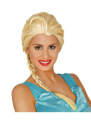 peluca de princesa de hielo disfraz mujer funidelia