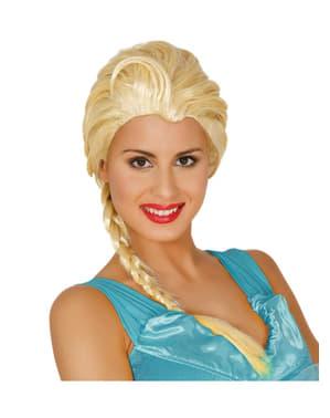 Peluca de princesa de hielo para mujer