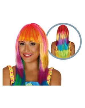 Parrucca arcobaleno donna