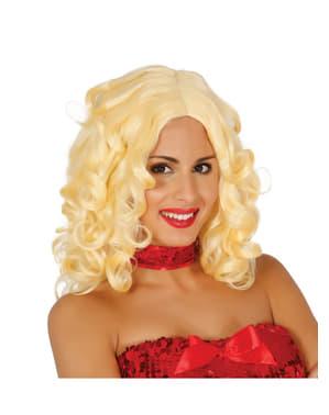 Perruque blonde bouclées femme