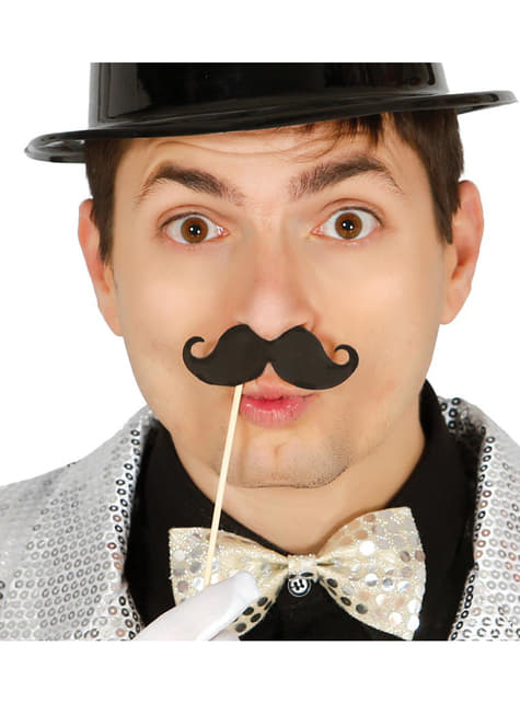 Set de 6 bigotes fiesteros con palo