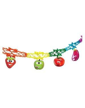 Grinalda de frutas fantasia