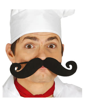 Elasticated cook moustache