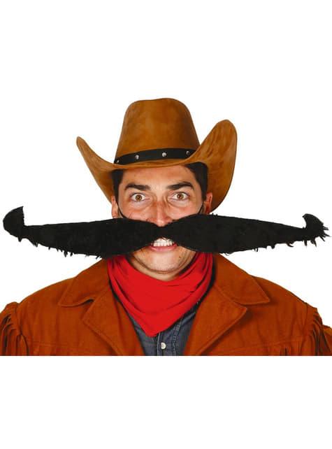 Extra large elasticated cowboy moustache