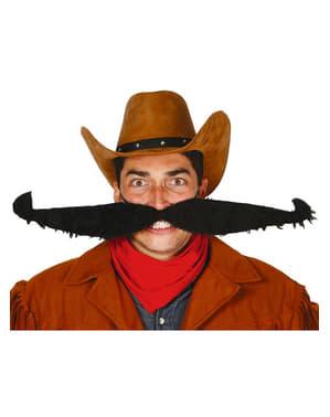 Moustache cowboy extra avec élastique