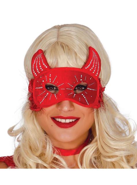 Antifaz de diabinha para mulher