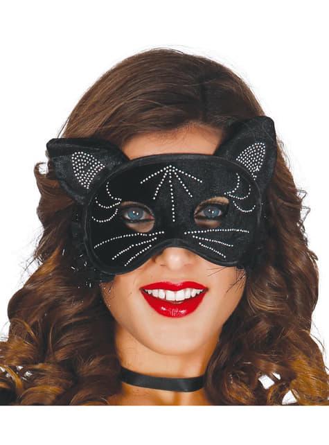 Antifaz de gata negra para mujer