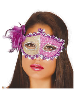Oogmasker luxe paarse voor vrouw