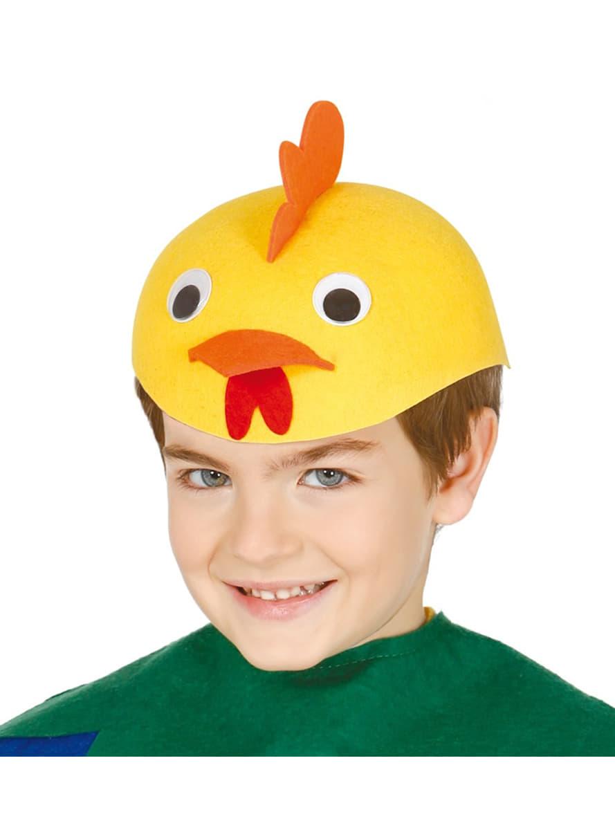 Chapeau poussin enfant pour d guisement funidelia - 4 images 1 mot poussin lapin ...