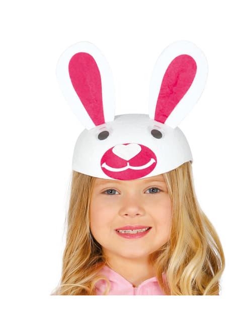 Casquete de conejito para niña
