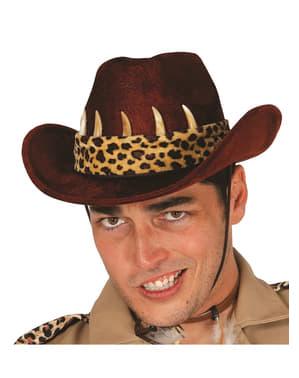 Cappello da cacciatore di coccodrilli uomo