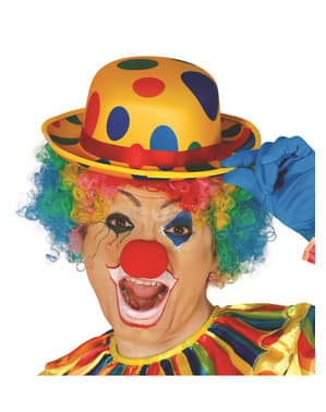 Mens clown bowler hat