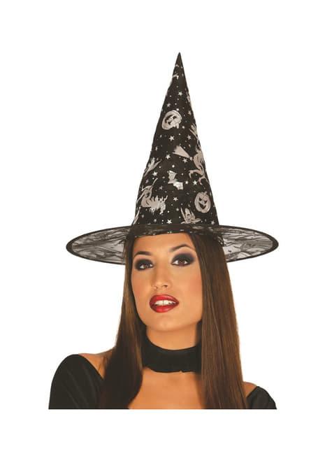 Sombrero de bruja atractiva para mujer