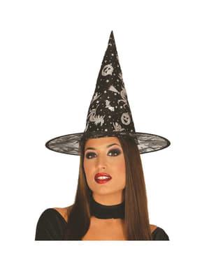 Cappello strega attraente donna