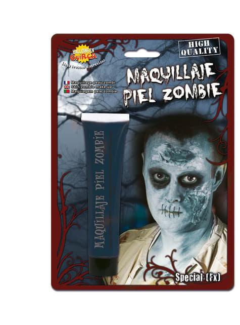 Maquillaje piel de zombie azulado