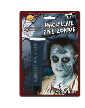 Bluish zombie skin make-up